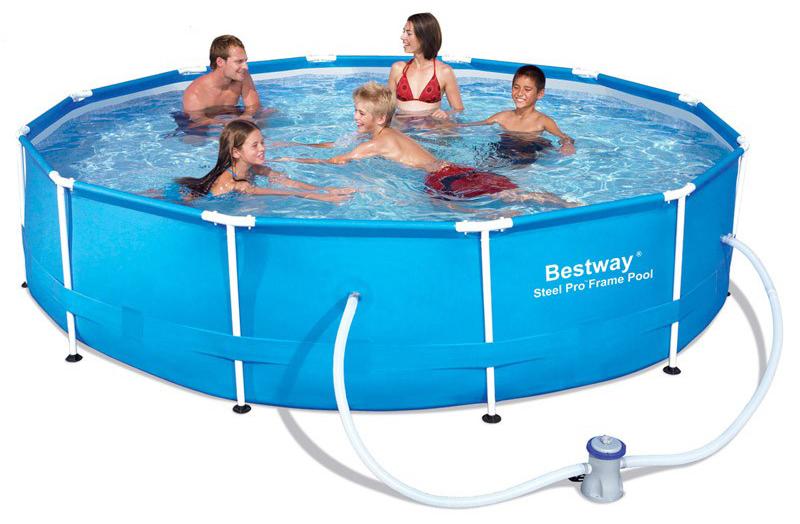 Image of BestWay 12ft x 30inch Steel Pro Pool Set