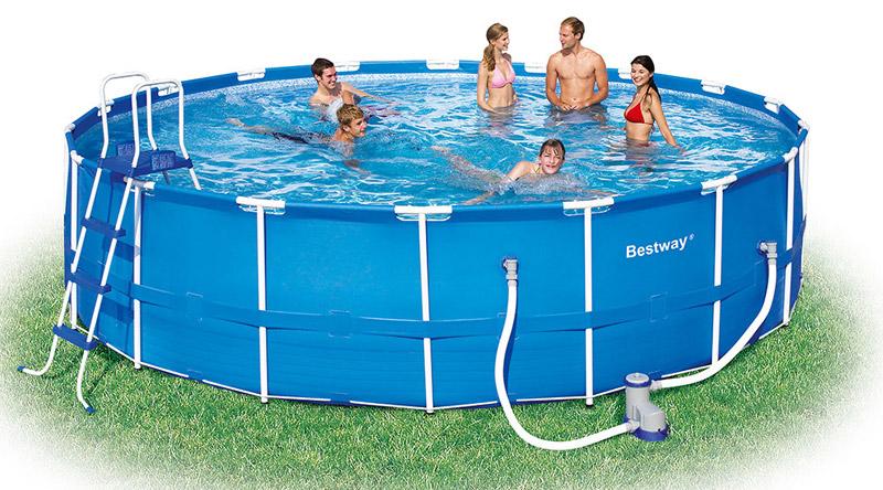 Image of BestWay 18ft x 48inch Steel Pro Pool Set