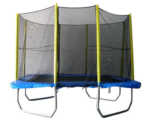 Image of Big Air 6x9ft Rectangular Trampoline With Safety Enclosure