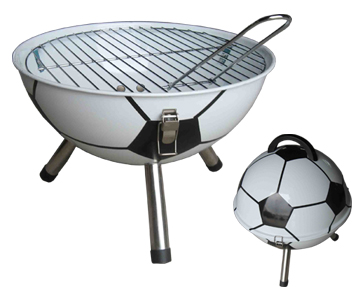 Image of Goodesmith Football Charcoal Barbecue