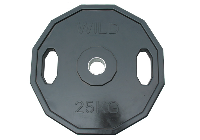 Image of 25kg Rubber Coated Cast Iron Olympic Disc