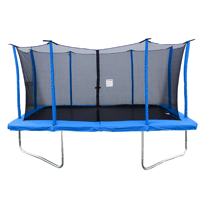 Velocity 9x 14ft Rectangular Blue Trampoline With Safety Enclosure