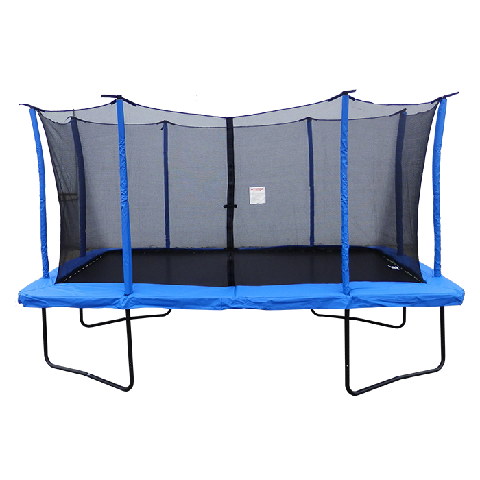 Velocity 9x 14ft Rectangular Blue Powder Coated Trampoline With Safety Enclosure