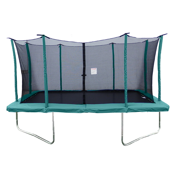 Velocity 9x 14ft Rectangular Green Trampoline With Safety Enclosure