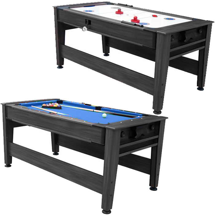 Air King 6ft Pool & Air Hockey Combination Table with Black Body