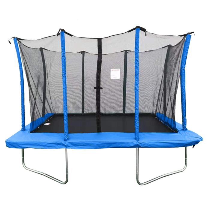 Velocity 8x12ft Blue Powder Coated Rectangular Trampoline With Safety Enclosure