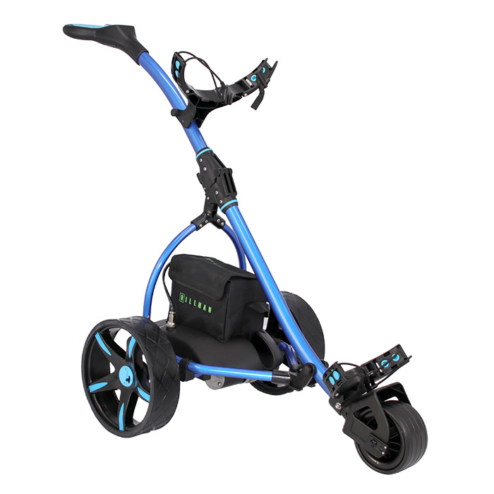 Hillman Commander Electric Golf Trolley Blue With 16Ah Lithium Battery