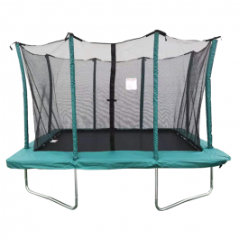 Velocity 7x10ft Green Rectangular Trampoline With Safety Enclosure