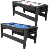 Walker & Simpson Petroni 6ft Combo Pool and Hockey Table in Black
