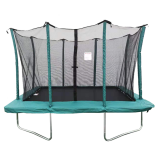 8x12ft Green Rectangular Trampoline With Safety Enclosure