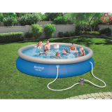 BestWay 15ft x 33inch Fast Set™ Above Ground Swimming Pool With Filter