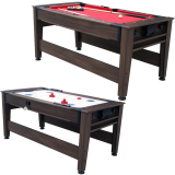 Walker & Simpson Petroni 6ft Combo Pool and Hockey Table in Mahogany