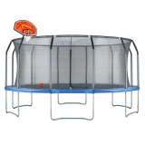 Air League 16ft Trampoline with Enclosure and Basketball