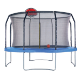 Air League 14ft Trampoline with Enclosure and Basketball