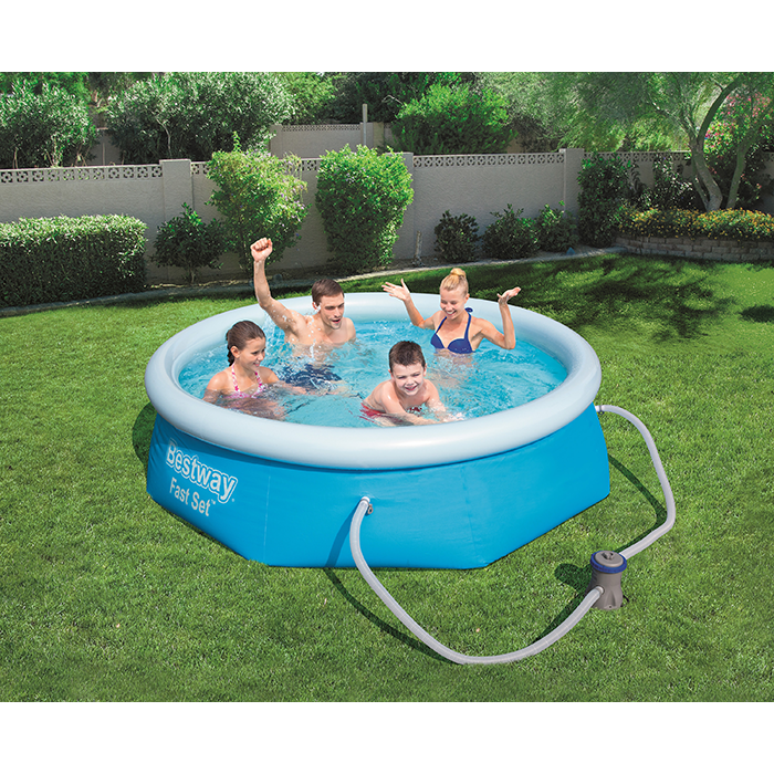 BestWay 8ft x 26inch Fast Set™ Above Ground Swimming Pool With Filter