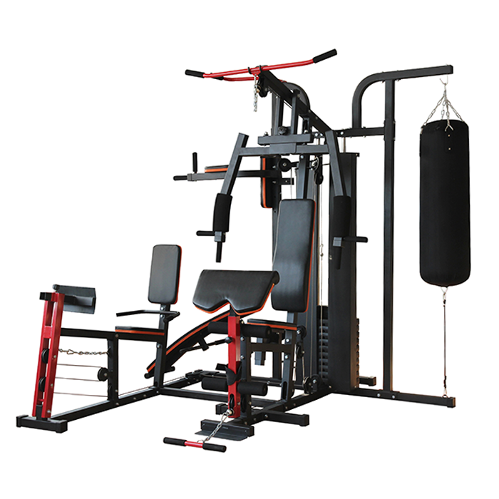 IronMan IM-306 Advanced 3 Station Home Multi Gym With Punch Bag