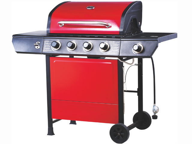 Image of Emberman Grill King 4 Burner Barbecue Red