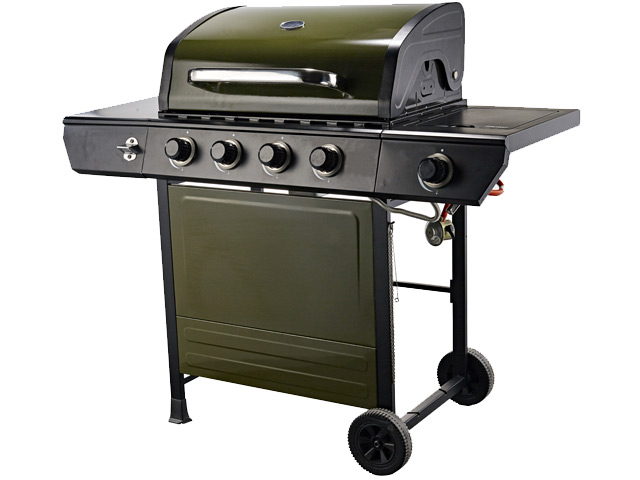 Image of Emberman Grill King 4 Burner Barbecue Green