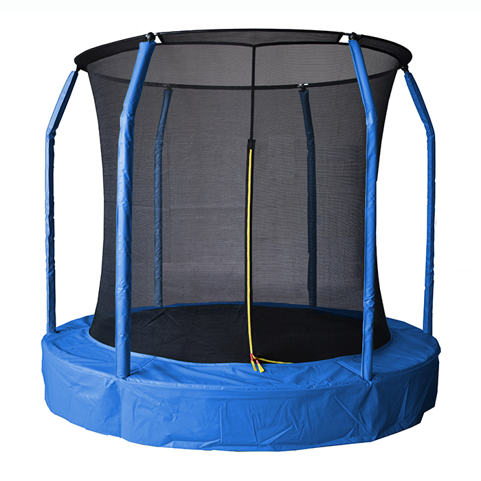 Image of Air League 12ft In Ground Sunken Trampoline With Safety Enclosure Blue