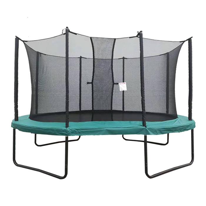 Velocity 10x14ft Powder Coated Oval Trampoline with Safety Enclosure