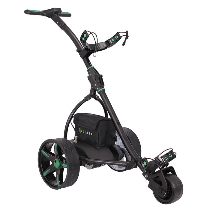 Hillman Pro Kart Electric Golf Trolley Green with 16Ah Lithium Battery
