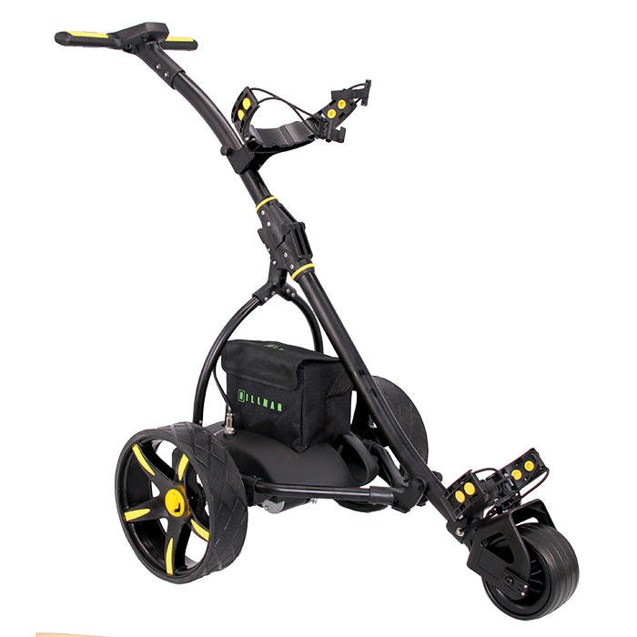 Hillman Pro Kart Electric Golf Trolley Yellow With 22Ah Lead Acid Battery
