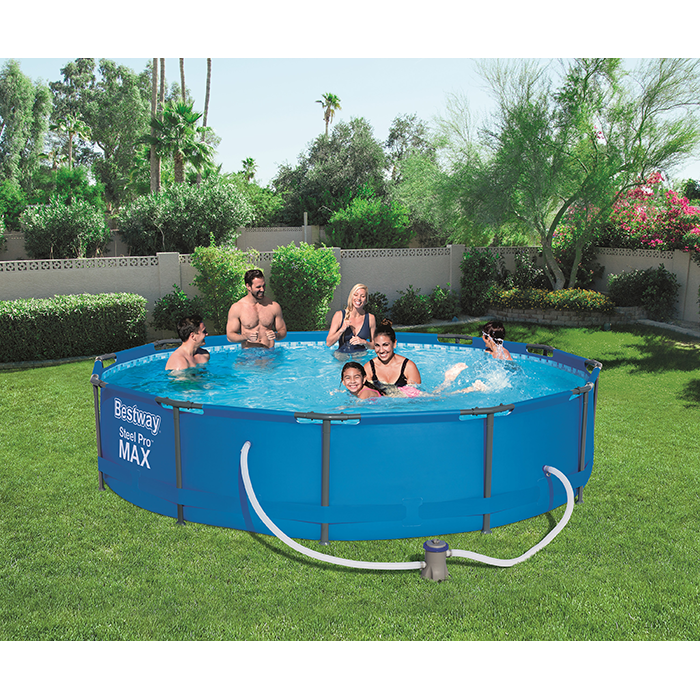 BestWay 12ft x 30inch Steel Pro Max™ Above Ground Swimming Pool With Filter
