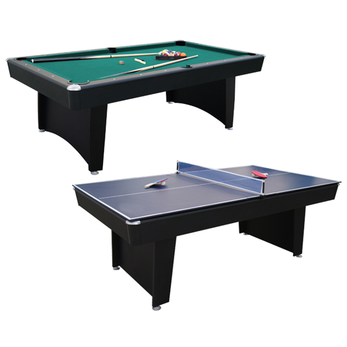 Walker and Simpson Pool & Table Tennis Combo Table in Black